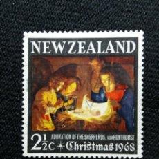 Sellos: NUEVA ZELANDA, 2,1/2C, CHRISTMAS, AÑO 1968, NUEVO.. Lote 203822491