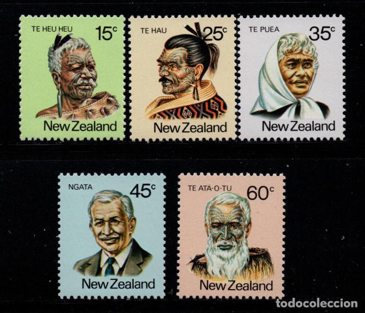 NUEVA ZELANDA 781/85** - AÑO 1980 - PERSONALIDADES MAORIS (Sellos - Extranjero - Oceanía - Nueva Zelanda)