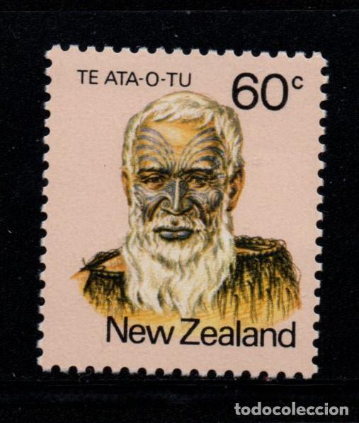 NUEVA ZELANDA 785** - AÑO 1980 - PERSONALIDADES MAORIS CAMBIO DE COLOR (Sellos - Extranjero - Oceanía - Nueva Zelanda)