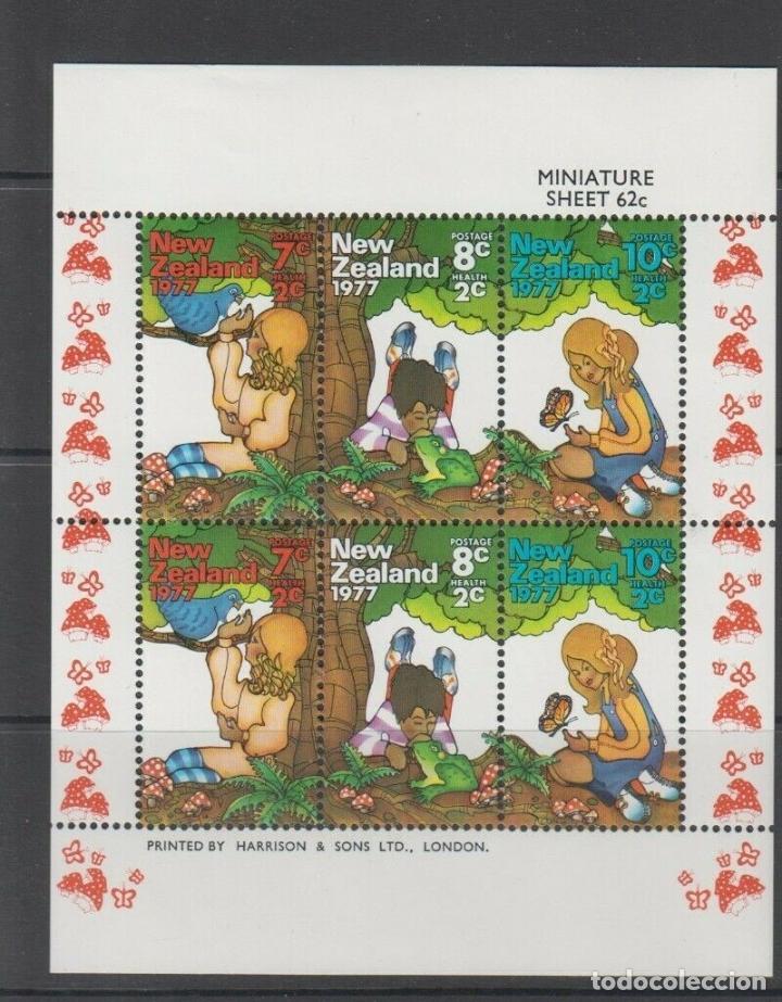 NUEVA ZELANDA 1977 HB IVERT 41 *** PRO OBRAS POR LA SANIDAD INFANTIL (Sellos - Extranjero - Oceanía - Nueva Zelanda)