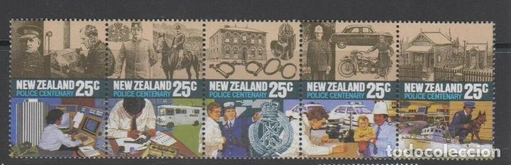 NUEVA ZELANDA 1986 IVERT 913/17 *** CENTENARIO DE LA POLICIA DE NUEVA ZELENDA (Sellos - Extranjero - Oceanía - Nueva Zelanda)