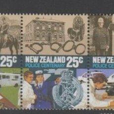 Sellos: NUEVA ZELANDA 1986 IVERT 913/17 *** CENTENARIO DE LA POLICIA DE NUEVA ZELENDA. Lote 206251992