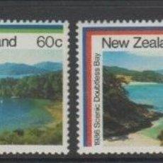 Sellos: NUEVA ZELANDA 1986 IVERT 928/31 *** TURISMO (I) - PAISAJES MARITIMOS. Lote 206252280