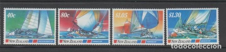 NUEVA ZELANDA 1987 IVERT 950/3 *** DEPORTES NAUTICOS - BARCOS DE VELA (Sellos - Extranjero - Oceanía - Nueva Zelanda)