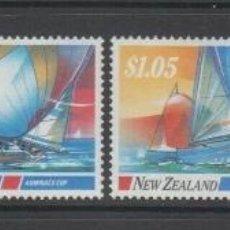 Sellos: NUEVA ZELANDA 1987 IVERT 950/3 *** DEPORTES NAUTICOS - BARCOS DE VELA. Lote 206252430