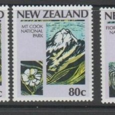 Sellos: NUEVA ZELANDA 1987 IVERT 960/3 *** CENTENARIO DE LOS PARQUES NACIONALES EN NUEVA ZELANDA. Lote 206252777