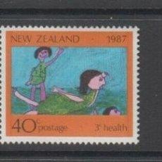 Sellos: NUEVA ZELANDA 1987 IVERT 964/6 *** POR LA SANIDAD INFANTIL - DIBUJOS DE NIÑOS. Lote 206253253