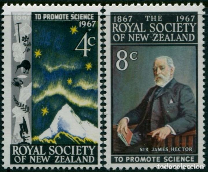NUEVA ZELANDA 1967 - ROYAL SOCIETY - YVERT Nº 465/466** (Sellos - Extranjero - Oceanía - Nueva Zelanda)