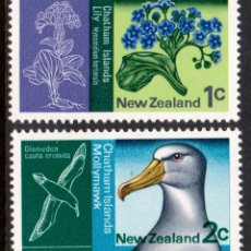 Timbres: NUEVA ZELANDA 1970 - FAUNA Y FLORA - YVERT Nº 525/526**. Lote 208879713