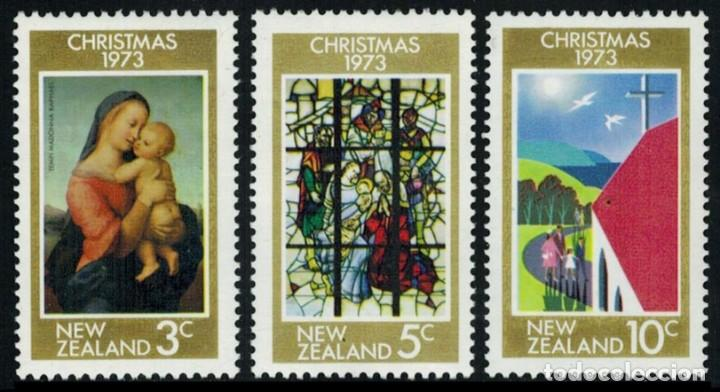 NUEVA ZELANDA 1973 - NAVIDAD - NOEL - CHRISTMAS - YVERT Nº 596/598** (Sellos - Extranjero - Oceanía - Nueva Zelanda)