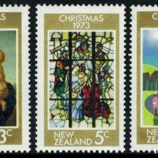 Sellos: NUEVA ZELANDA 1973 - NAVIDAD - NOEL - CHRISTMAS - YVERT Nº 596/598**. Lote 208880397