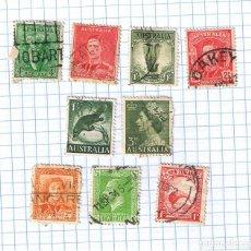 Sellos: LOTE DE SELLOS ANTIGUOS DE NUEVA ZELANDA Y AUSTRALIA. Lote 209306895