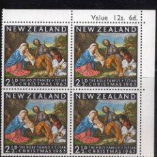 Sellos: NUEVA ZELANDA 1963 BLOQUE MNH MICHEL 427. Lote 210013586