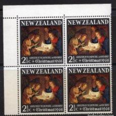 Sellos: NUEVA ZELANDA 1968 BLOQUE MNH MICHEL 491. Lote 210013791
