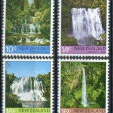 Sellos: NUEVA ZELANDA 1976 IVERT 665/8 *** CASCADAS DE AGUA - PAISAJES Y NATURALEZA. Lote 210753360