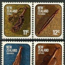 Sellos: NUEVA ZELANDA 1976 IVERT 675/8 *** SERIE BÁSICA - ARTESANÍA LOCAL. Lote 210753565