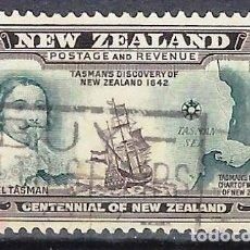 Timbres: NUEVA ZELANDA 1940 - ABEL TASMAN Y RUTA DE TASMANIA - SELLO USADO. Lote 210986584