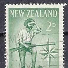 Timbres: NUEVA ZELANDA 1960 - CENTENARIO DE LA PROVINCIA DE WESTLAND, EXPLORADOR - SELLO USADO. Lote 210987419
