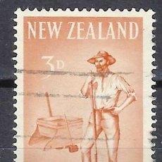 Timbres: NUEVA ZELANDA 1960 - CENTENARIO DE LA PROVINCIA DE WESTLAND, BUSCADOR DE ORO - SELLO USADO. Lote 210987425