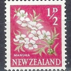 Timbres: NUEVA ZELANDA 1960-63 - FLORES, LEPTOSPERMUM SCOPARIUM - SELLO USADO. Lote 210987566