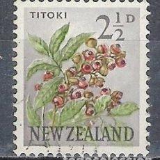 Timbres: NUEVA ZELANDA 1960-63 - FLORES, ALECTRYON EXCELSUM - SELLO USADO. Lote 210987657