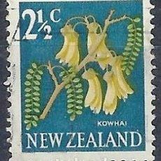Timbres: NUEVA ZELANDA 1967-68 - FLORES, SOPHORA MICROPHYLLA, NUEVO SISTEMA DÉCIMAL - SELLO USADO. Lote 210989039
