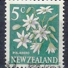 Timbres: NUEVA ZELANDA 1967-68 - FLORES, CELMISIA CORIACEA , NUEVO SISTEMA DÉCIMAL - SELLO USADO. Lote 210989102