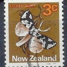 Timbres: NUEVA ZELANDA 1970-76 - FAUNA, MARIPOSA, DETUNDA EGREGIA - SELLO USADO. Lote 211094925