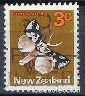 NUEVA ZELANDA 1970-76 - FAUNA, MARIPOSA, DETUNDA EGREGIA - SELLO USADO (Sellos - Extranjero - Oceanía - Nueva Zelanda)