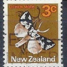 Sellos: NUEVA ZELANDA 1970-76 - FAUNA, MARIPOSA, DETUNDA EGREGIA - SELLO USADO. Lote 211097482