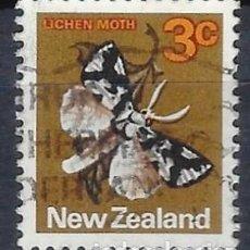 Sellos: NUEVA ZELANDA 1970-76 - FAUNA, MARIPOSA, DETUNDA EGREGIA - SELLO USADO. Lote 211101450