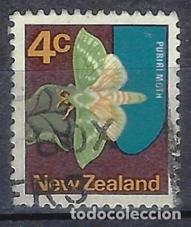 NUEVA ZELANDA 1970-76 - FAUNA, MARIPOSA, CHARAGIA VIRESCENS - SELLO USADO (Sellos - Extranjero - Oceanía - Nueva Zelanda)
