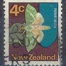 Sellos: NUEVA ZELANDA 1970-76 - FAUNA, MARIPOSA, CHARAGIA VIRESCENS - SELLO USADO. Lote 211110485