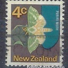 Sellos: NUEVA ZELANDA 1970-76 - FAUNA, MARIPOSA, CHARAGIA VIRESCENS - SELLO USADO. Lote 211114535