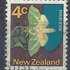 Sellos: NUEVA ZELANDA 1970-76 - FAUNA, MARIPOSA, CHARAGIA VIRESCENS - SELLO USADO. Lote 211119936