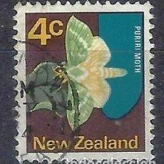 Sellos: NUEVA ZELANDA 1970-76 - FAUNA, MARIPOSA, CHARAGIA VIRESCENS - SELLO USADO. Lote 211122699