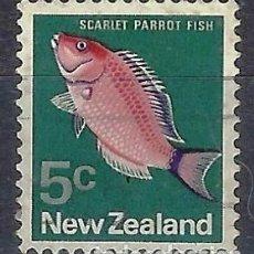 Timbres: NUEVA ZELANDA 1970-76 - FAUNA, PECES, PSEUDOLABRUS MILLAS - SELLO USADO. Lote 211129926