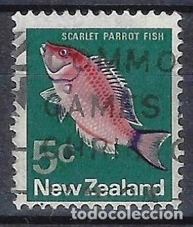 NUEVA ZELANDA 1970-76 - FAUNA, PECES, PSEUDOLABRUS MILLAS - SELLO USADO (Sellos - Extranjero - Oceanía - Nueva Zelanda)