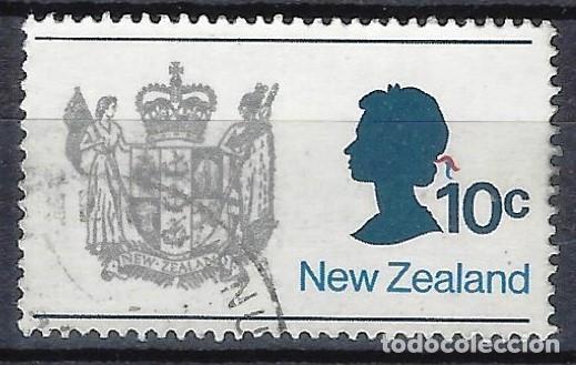 NUEVA ZELANDA 1970-76 - ESCUDO DE ARMAS - SELLO USADO (Sellos - Extranjero - Oceanía - Nueva Zelanda)