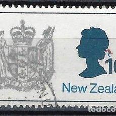 Sellos: NUEVA ZELANDA 1970-76 - ESCUDO DE ARMAS - SELLO USADO. Lote 211150782