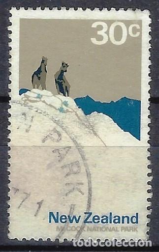 NUEVA ZELANDA 1970-76 - PARQUE NACIONAL COOK - SELLO USADO (Sellos - Extranjero - Oceanía - Nueva Zelanda)
