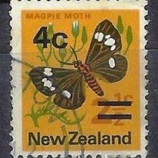 Sellos: NUEVA ZELANDA 1971-74 - FAUNA, MARIPOSAS, SOBRECARGADO - SELLO USADO. Lote 211207384