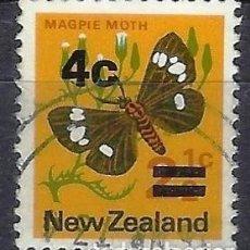 Sellos: NUEVA ZELANDA 1971-74 - FAUNA, MARIPOSAS, SOBRECARGADO - SELLO USADO. Lote 211215676