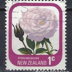 Sellos: NUEVA ZELANDA 1975-79 - FLORA, ROSAS DE JARDÍN, PLATA ESTERLINA - SELLO USADO. Lote 211255155