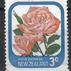 Sellos: NUEVA ZELANDA 1975-79 - FLORA, ROSAS DE JARDÍN, REINA ELIZABETH - SELLO USADO. Lote 211255215