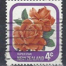 Sellos: NUEVA ZELANDA 1975-79 - FLORA, ROSAS DE JARDÍN, SUPER ESTRELLA - SELLO USADO. Lote 211255241