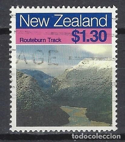 NUEVA ZELANDA 1988 - TURISMO, SENDEROS - SELLO USADO (Sellos - Extranjero - Oceanía - Nueva Zelanda)
