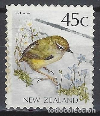 NUEVA ZELANDA 1991 - FAUNA, AVES, ROCK WREN - SELLO USADO (Sellos - Extranjero - Oceanía - Nueva Zelanda)