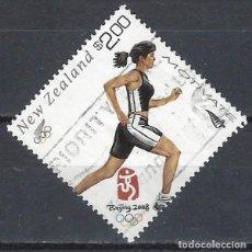 Sellos: NUEVA ZELANDA 2008 - JJOO DE BEIJING - SELLO USADO. Lote 211260394