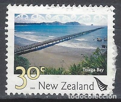 NUEVA ZELANDA 2009 - PAISAJES, BAHÍA DE TOLAGA - SELLO USADO (Sellos - Extranjero - Oceanía - Nueva Zelanda)